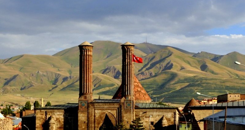 The Twin Minaret Madrasa of Erzurum, Turkey—formerly Garin, Armenia (Sarah Murray / Flickr)